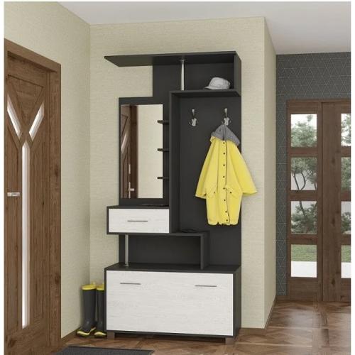 Интернет магазин мебели купить Прихожая Амина антрацит/аляска SV-767, мебель Світ Меблів