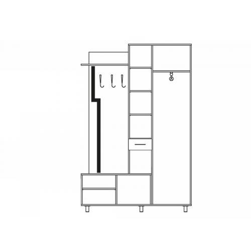 Интернет магазин мебели купить Прихожая Реприза SV-779, мебель Світ Меблів