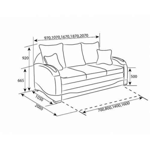 Интернет магазин мебели купить Диван Измир (1,60) DF-035, мебель Divanoff