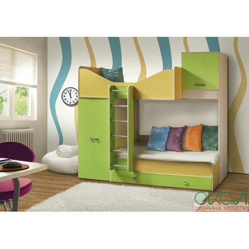 Кровати двухярусные Детская Моби-2 739-С мебель Киев