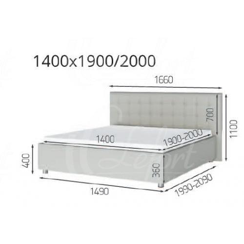 Мягкие кровати Кровать Глория (1,20) LF-751 мебель Киев