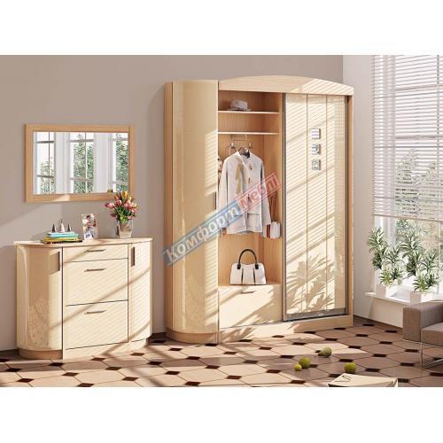 Прихожие серии «ХАЙ-ТЕК» Прихожая ВТ-3959 КМ-2117 мебель Киев