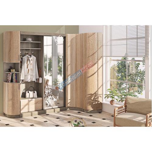 Прихожие серии «ХАЙ-ТЕК» Прихожая ВТ-3969 КМ-2127 мебель Киев