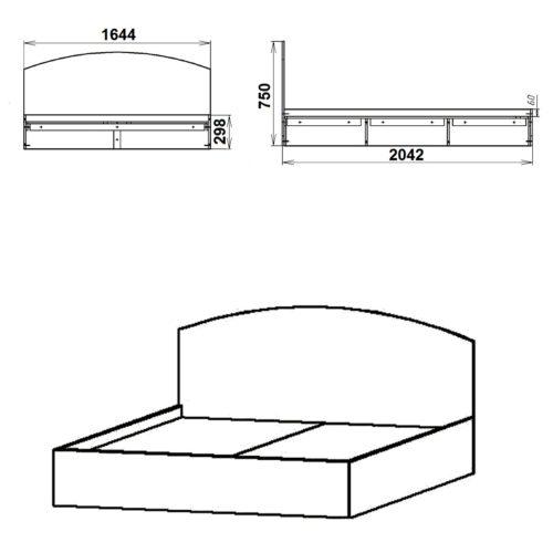 ДСП кровати Кровать-160 017-К мебель Киев