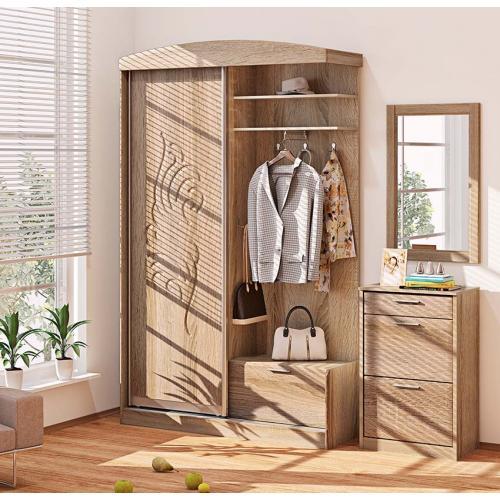 Прихожие серии «ХАЙ-ТЕК» Прихожая ВТ-3971 КМ-2129 мебель Киев