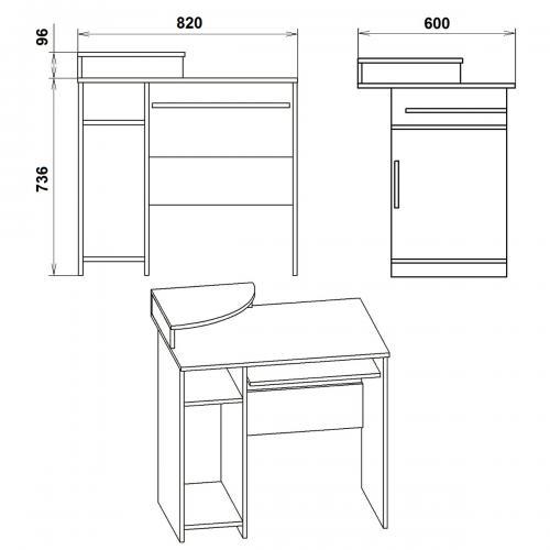 Компьютерные столы СКМ-1 426-К мебель Киев