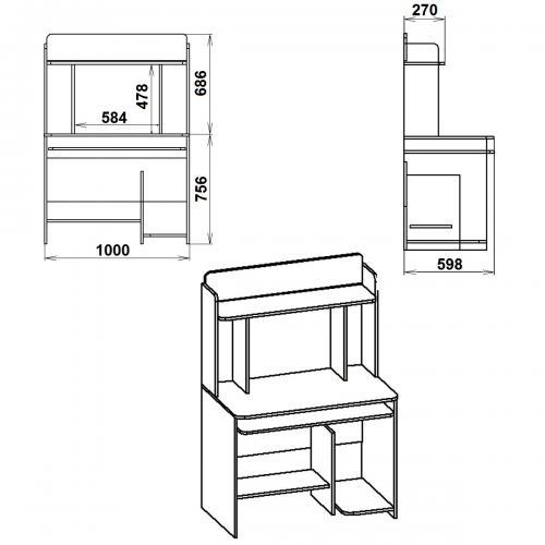 Компьютерные столы СКМ-6 431-К мебель Киев