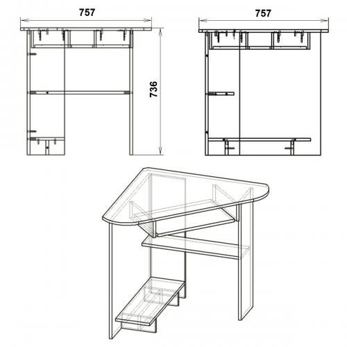 Компьютерные столы СУ-15 417-К мебель Киев
