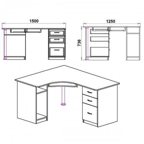 Компьютерные столы СУ-9 410-К мебель Киев